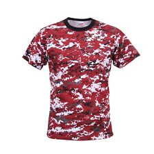 Red Digital Camo Military Digital Camouflage T-Shirt 5434 Rothco