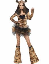 Ladies Sexy Fever Tiger Animal Zoo Hen Party Outfit Fancy Dress Costume