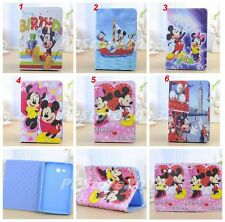 New Cartoon Disney Mickey Minnie Mouse Smart Leather Case Cover for Samsung iPad