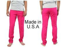 Men Hot Pink Skinny Jeans Made in USA, Premium with 3% spandex, THEY ARE BACK IN