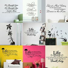 Optional 7 Patterns Quote Motto Art Wall Sticker Mural Decals Transfer