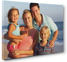 """Your Photo Picture Personalised Canvas Print  Image Wall Art  8""""x12"""" Box Framed"""
