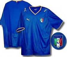 Italy Puma Azzuri blue gold home adults v neck football team shirt 2008-09 M-XXL