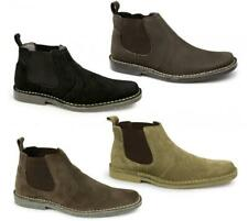 Roamers Mens Suede Crazyhorse Leather Comfy Casual Ankle Dealer Chelsea Boots