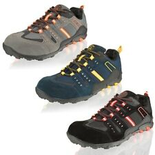 MENS GROUNDWORK LIGHTWEIGHT SAFETY STEEL TOE CAP WORK TRAINERS SHOES SIZE 7-11