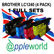 1 FULL SET of LC1240 / LC1280 BROTHER Compatible Ink Cartridges (4 INKS)