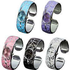 Women's Steel Wire Crystal Bangle Cuff Bracelet Quartz Wrist Watch Fashion Gift