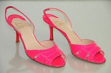 New CHRISTIAN LOUBOUTIN VENTILATA 70 hot Pink Patent Sandals SHOES 40 9.5