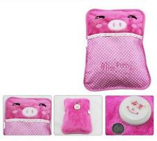New Pink Allover Body Hand Warmer Hot Water Bottle Flannel Electric Warming Bag