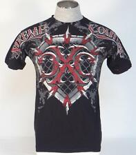 Xtreme Couture Vintage Graphic Black Short Sleeve Tee T Shirt Mens NEW