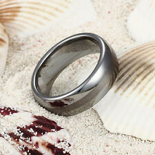 Tungsten Carbide Ring Men Wedding Band Engagement Dome 6mm 8mm All Size