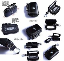 AUTO CAR PART SOFT KEY CHAIN HOLDER CASE BAG WITH CLIP WALLET POUCH MULTI-BRAND