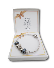 PERSONALISED BRACELET BANGLE THANK YOU TEACHER / ASSISTANT  NURSERY GIFT PRESENT