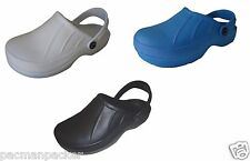 Full Kitchen Clogs Black Blue Chefs Shoes Safety Footwear Garden Slip On Cloggis