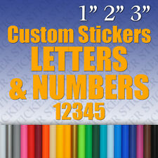 Custom Vinyl Stickers Letters & Numbers Labels Decals Personalised Name Text