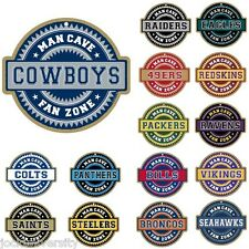 NFL Teams - Man Cave Fan Zone Wood Sign - Choose Your Team