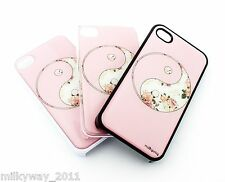#461 for IPHONE 4 4S Plastic Cover Case FLORAL YIN YANG balance good evil flower