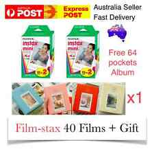 40 Films+ Album Polaroid Fuji Fujifilm Instax Mini White Album Mini 7 7s 8 25 90