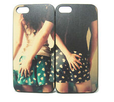 For iPhone 4 4S 5 5S Couple Lover boy girl arm around on back Cover Case Skin