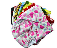Reusable Baby Cloth Nappy Nappies Diaper Diapers Minky Furry Surface Free Insert