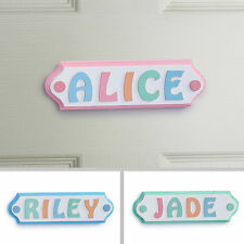 Personalised Wooden Letters Name Plaque Door Sign - PINK