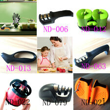 7 Styles Kitchen Knife Sharpener Tool Manual Pull Eazy Tungsten Steel Ceramic