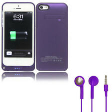 Purple Battery Case for Apple iPhone 5/5S Portable Charger 2200mAh Charging Pack