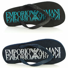 Mens Shoes EMPORIO ARMANI Sandals Flip-Flops 211301 4P498 Rubber Thongs Beach