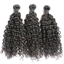 Brazilian Virgin Human Hair Extension Curly Wave Black Wavy Remy Weft 3 Bundles