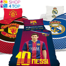 OFFICIAL LICENSED FOOTBALL CLUB DUVET SET BED COVER BEDDING, QUILT PILLOW SOCCER