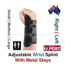 Wrist Splint Brace Protection Support Strap With Metal Stays CTS RSI Pain Relief