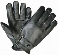 Xelement Premium Black Leather Cruisers Motorcycle Gloves For Harley Davidson