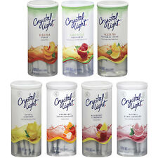 3 cans CRYSTAL LIGHTS 2qt  (15-18  Pitcher packets)  FLAVOR CHOICES