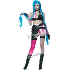 League of Legends Loose Cannon Jinx Cosplay Costume Girl Party Halloween Dress