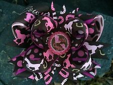 COWGIRL HORSE BOTTLECAP HAIRBOW WITH OPTIONS