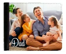Personalised Gent's Photo Wallet add your Picture & Message Father's Day Gift