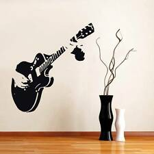 GUITAR Decal WALL STICKER Home Decor Art Guitarist Rock ALL COLORS & SIZES ST60