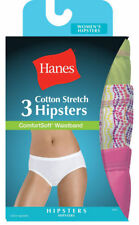 Hanes Women's ComfortSoft Waistband Stretch Hipsters, 3-Pack. ET41AS