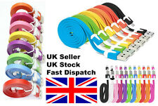 Samsung Galaxy S3 S4 S5 HTC Nokia Sony 3M long Flat noodle MICRO USB  cable
