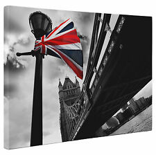 Abstract London Tower Bridge Union Jack Flag Canvas Print Wall Art a1 a2