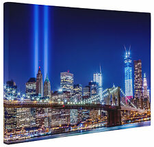 Abstract Brooklyn Bridge New York Lights Canvas Print  Wall Art Cityscape a1 a2