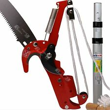 A Telescopic Rod with 2 IN 1 Steel Body Pole Tree Trimmer Saw Pruner