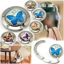 1pc Beautiful Butterfly Glass Surface Purse Hook Handbag Holder Bag Hanger GE015