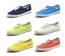 Fashion Women Gilrs' Candy Colored Casual Canvas Shoes Retro Flat Low Sneakers
