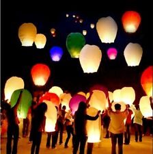 10/20/50 Select Color Sky Fly Lanterns Candle Lamp for Lucky Wish Party Wedding