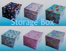 KIDS BOYS GIRLS BEDROOM THEMED DESIGNS FOLDABLE STORAGE CHEST BOOK TOY BOX