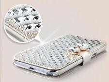 Bling Diamond Leather Wallet Cover Case Stand for Samsung Galaxy iPhone