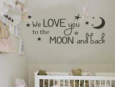 We love you to the Moon and Back Wall Art Vinyl Decal