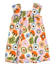 NEW GIRLS EX M&S SUMMER LINED SLEEVELESS FLORAL DRESS SIZE 2-6 YEARS