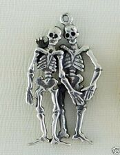 Best Friends BFF Skeleton 3D Necklace Jewelry ~ .925 Sterling Silver